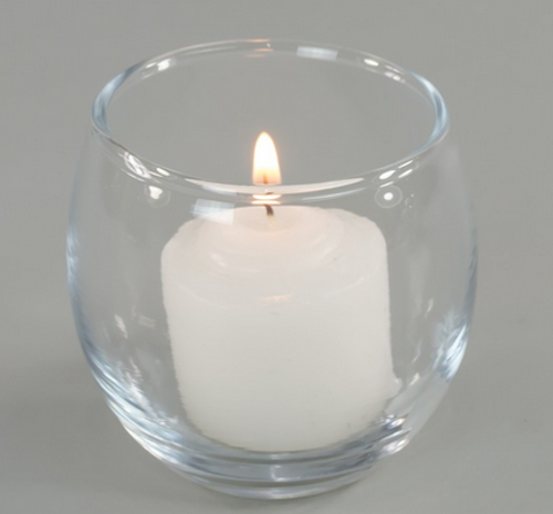 (30) Clear Roly Poly Votive Holders