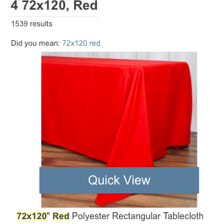 Selling 42 Linens - Red And Black - Tablecloths  For Accent Tables, Dessert Tables And Highboys