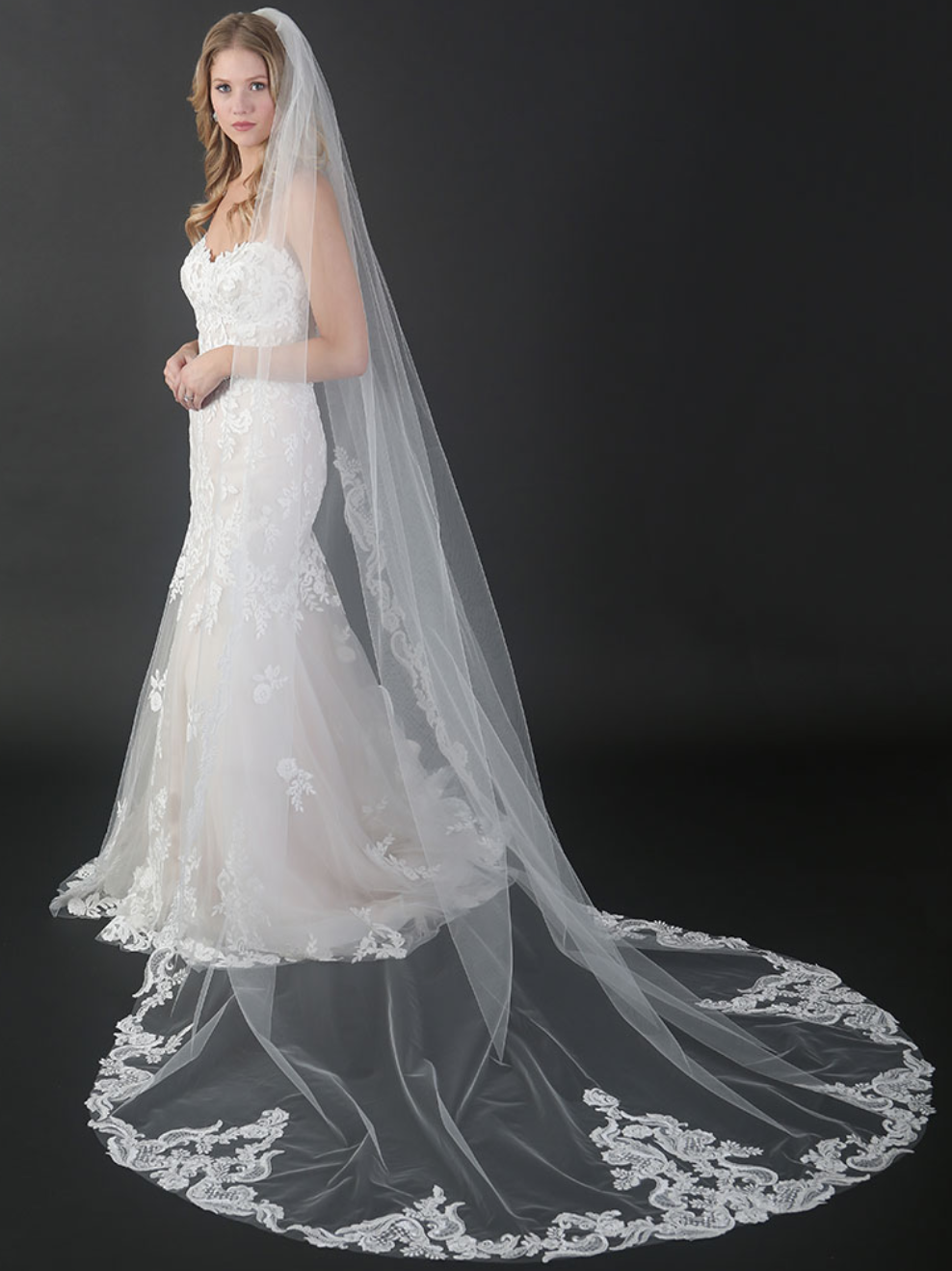 Bel Aire Bridal Ivory Cathedral Veil