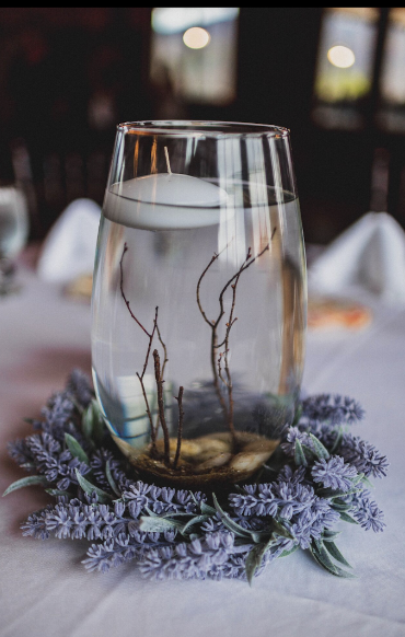10 Glass Vase Rustic Centerpieces