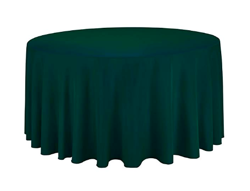 120 Inch Hunter Green Round Tablecloth