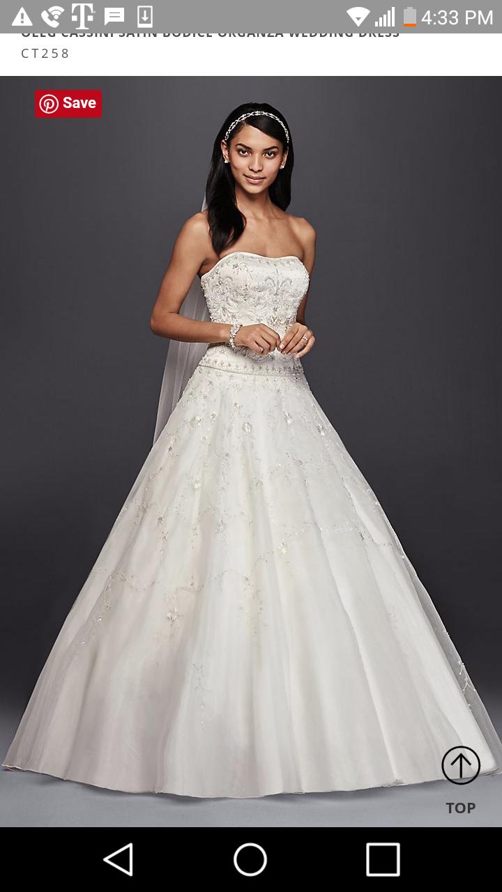 Oleg Cassini Satin Bodice Organza   Size: 16   Bridal Gown   BravoBride
