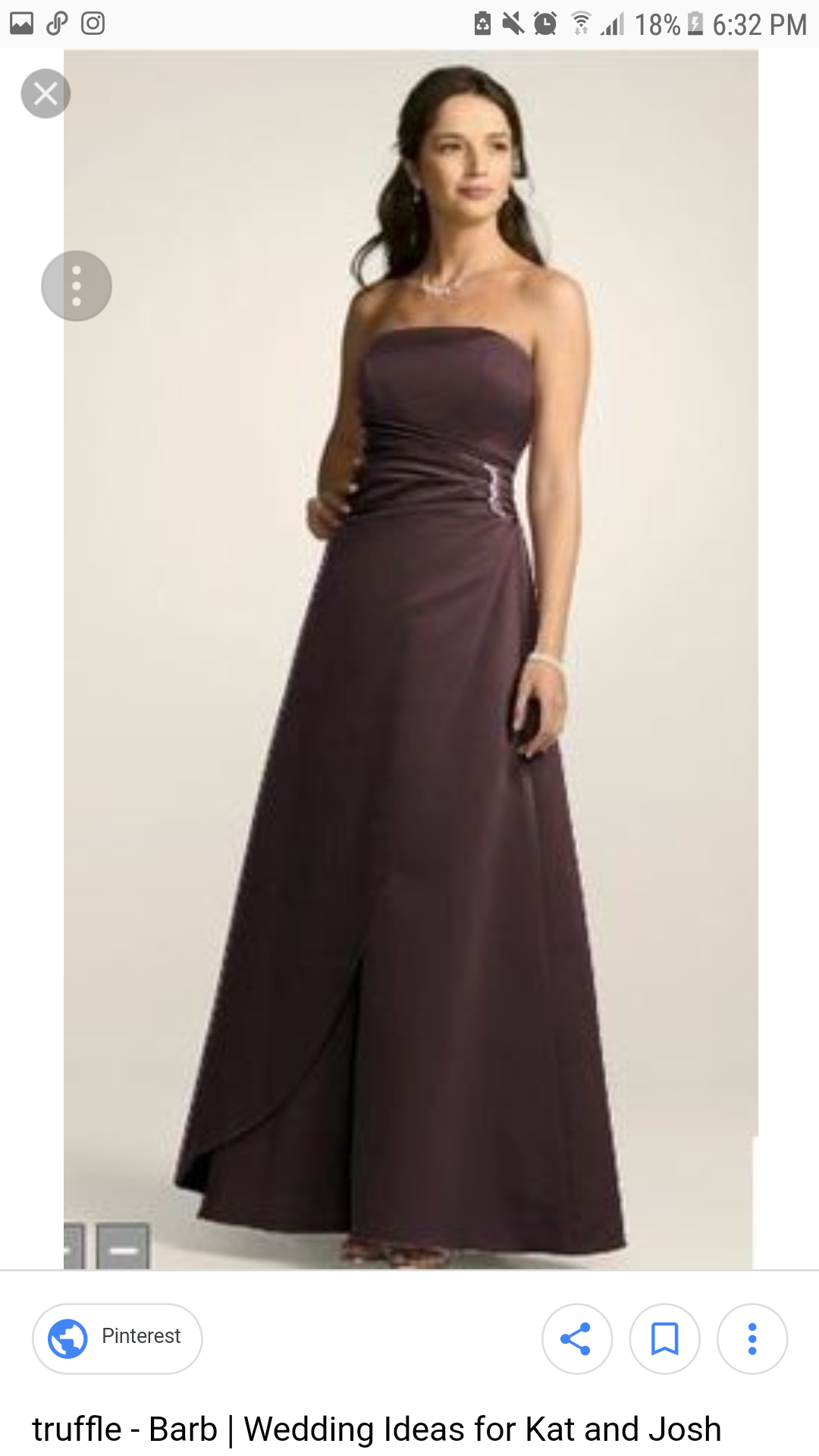 David S Bridal Strapless Bridesmaid Dress In Chocolate Color