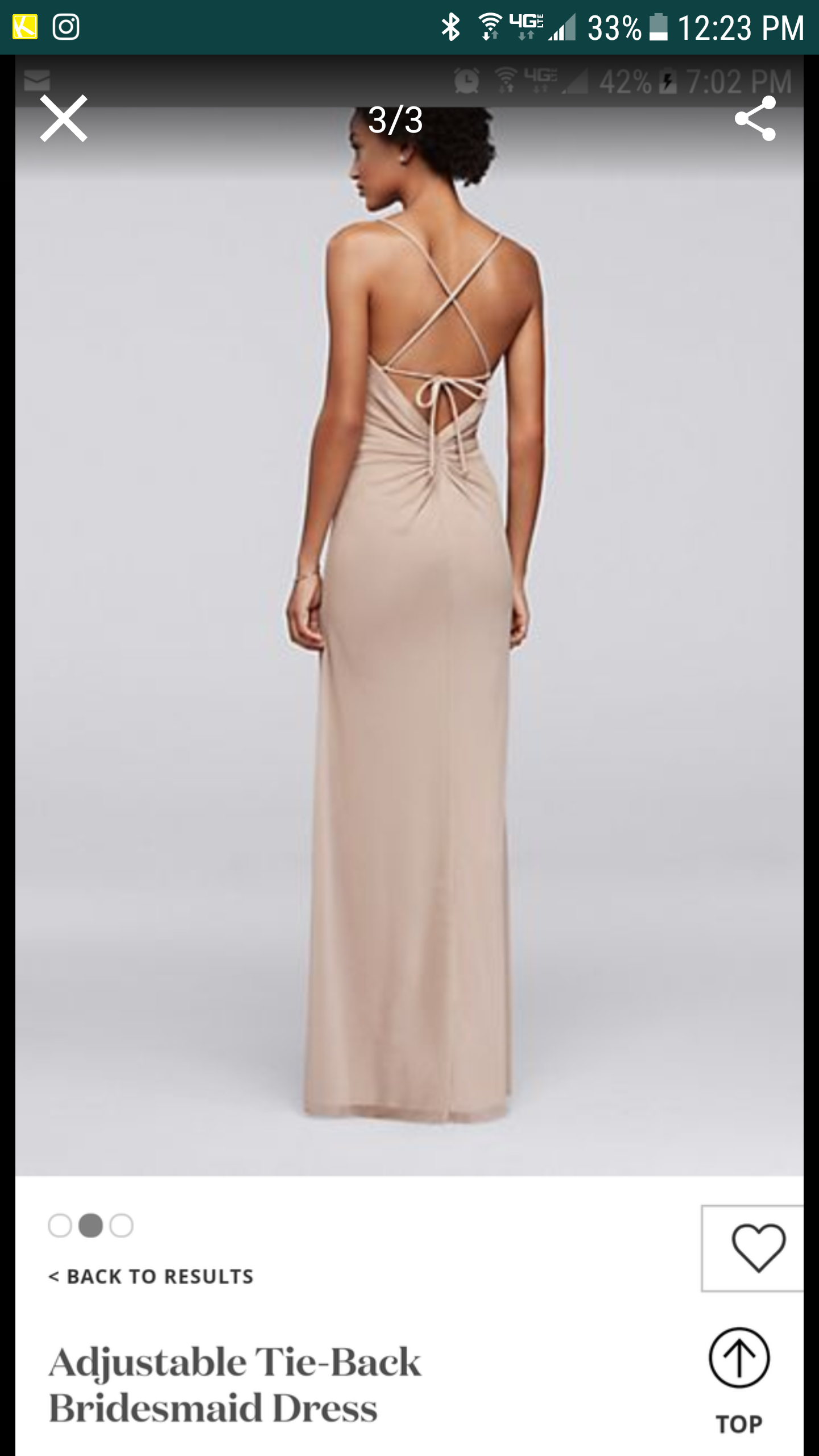 David's Bridal - David's Bridal Long Bridesmaid Dress Plum Color