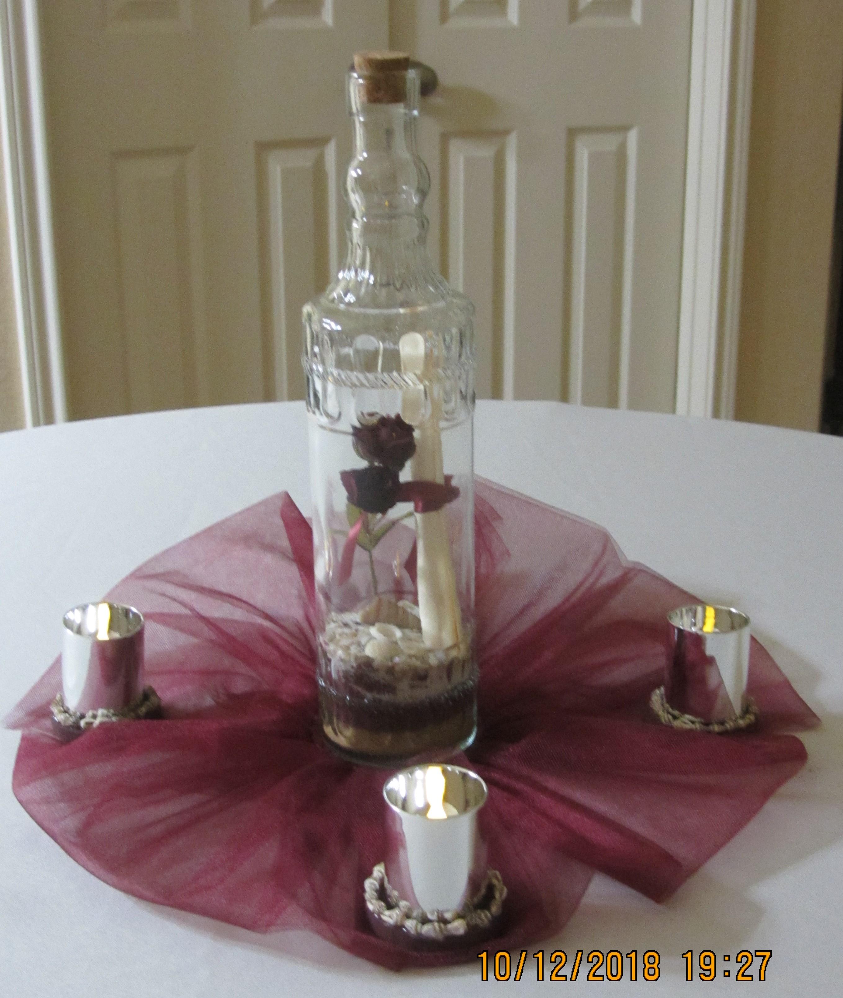 Message In A Bottle Centerpieces Table Centerpiece Bravobride