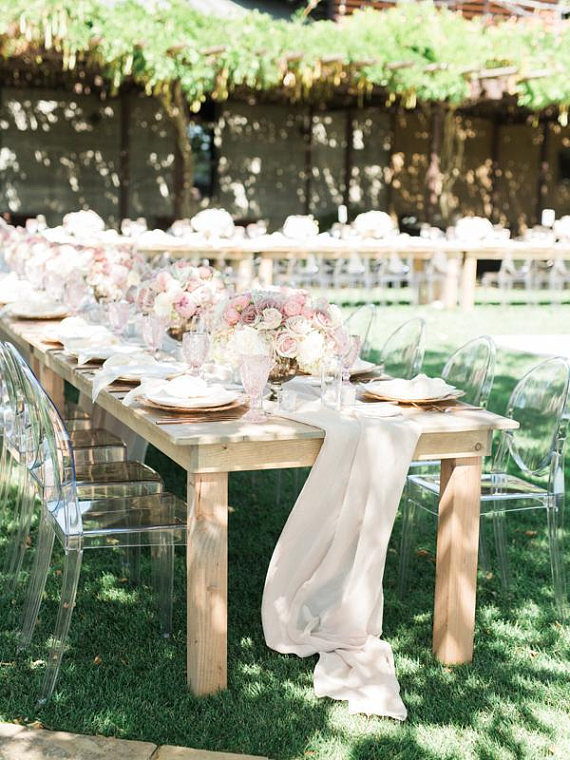 Champagne Color Table Runners