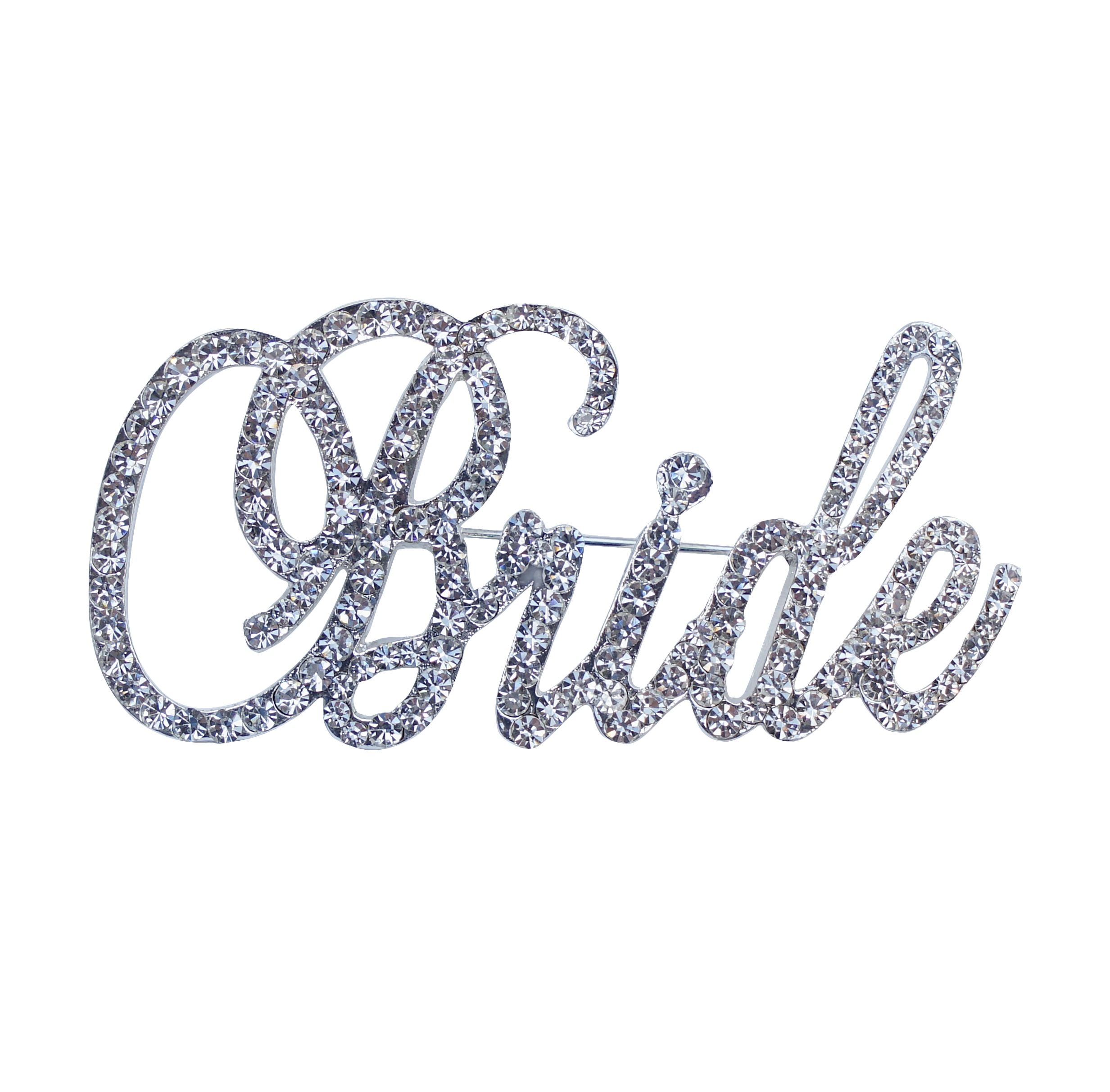 Unik Occasions Bride Rhinestone Pin In Silver