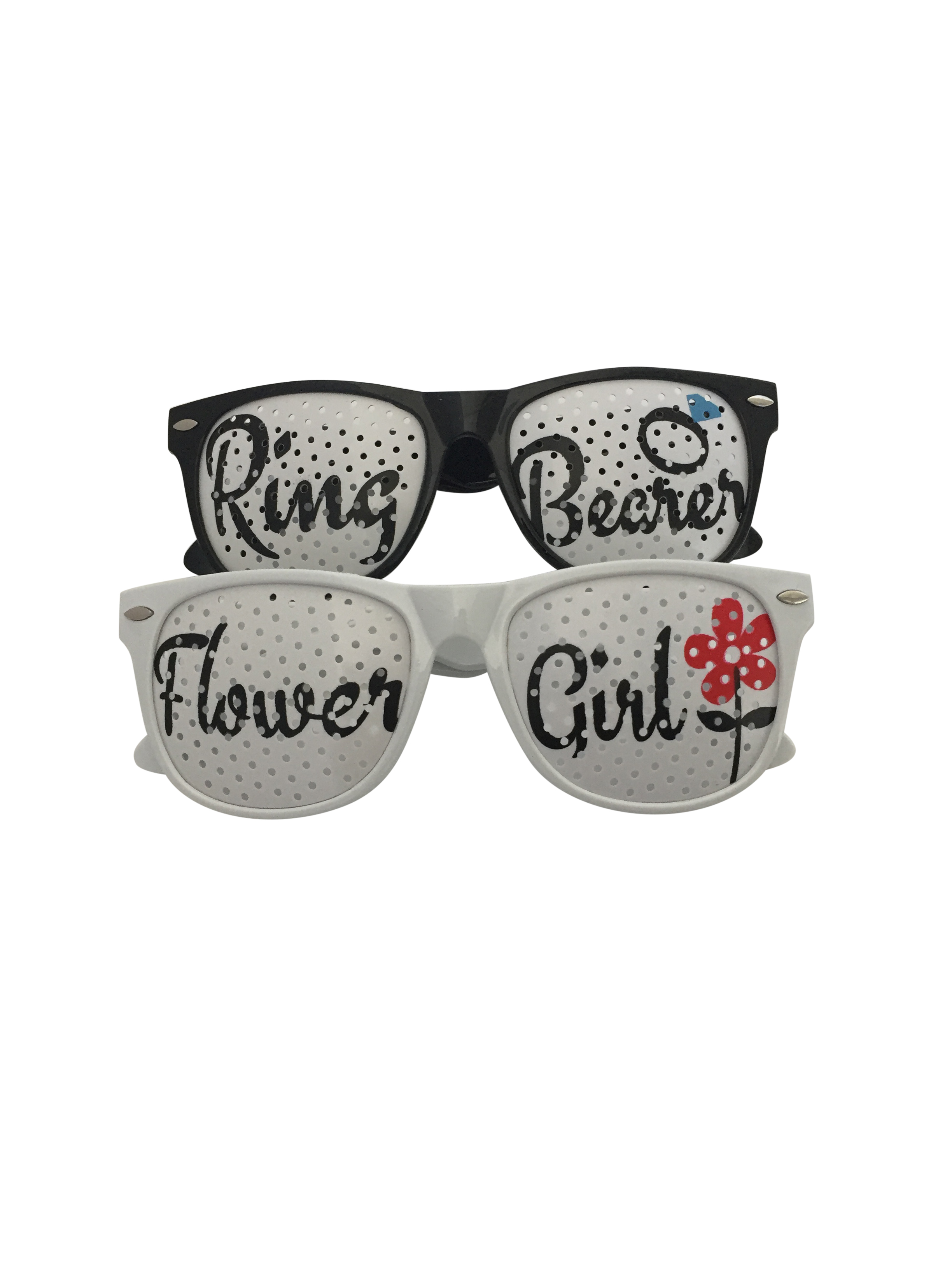 Bridal Party Pinhole Glasses Set - Ring Bearer & Flower Girl