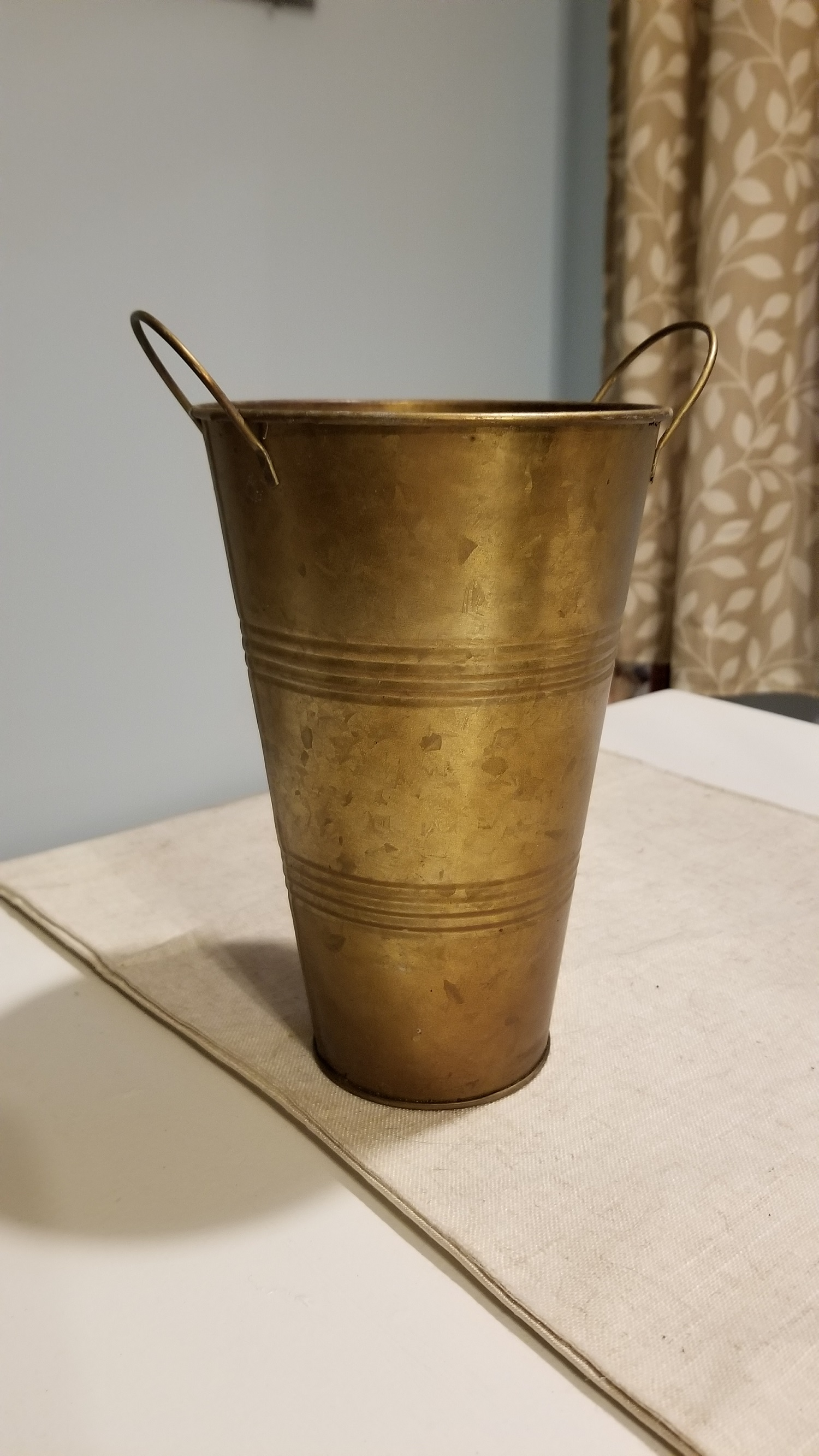 6 Bronze Flower Pots
