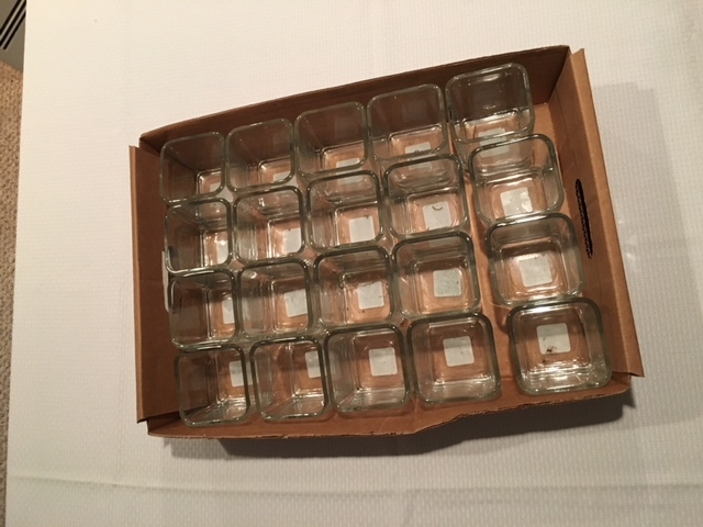 74 Clear Square Vases