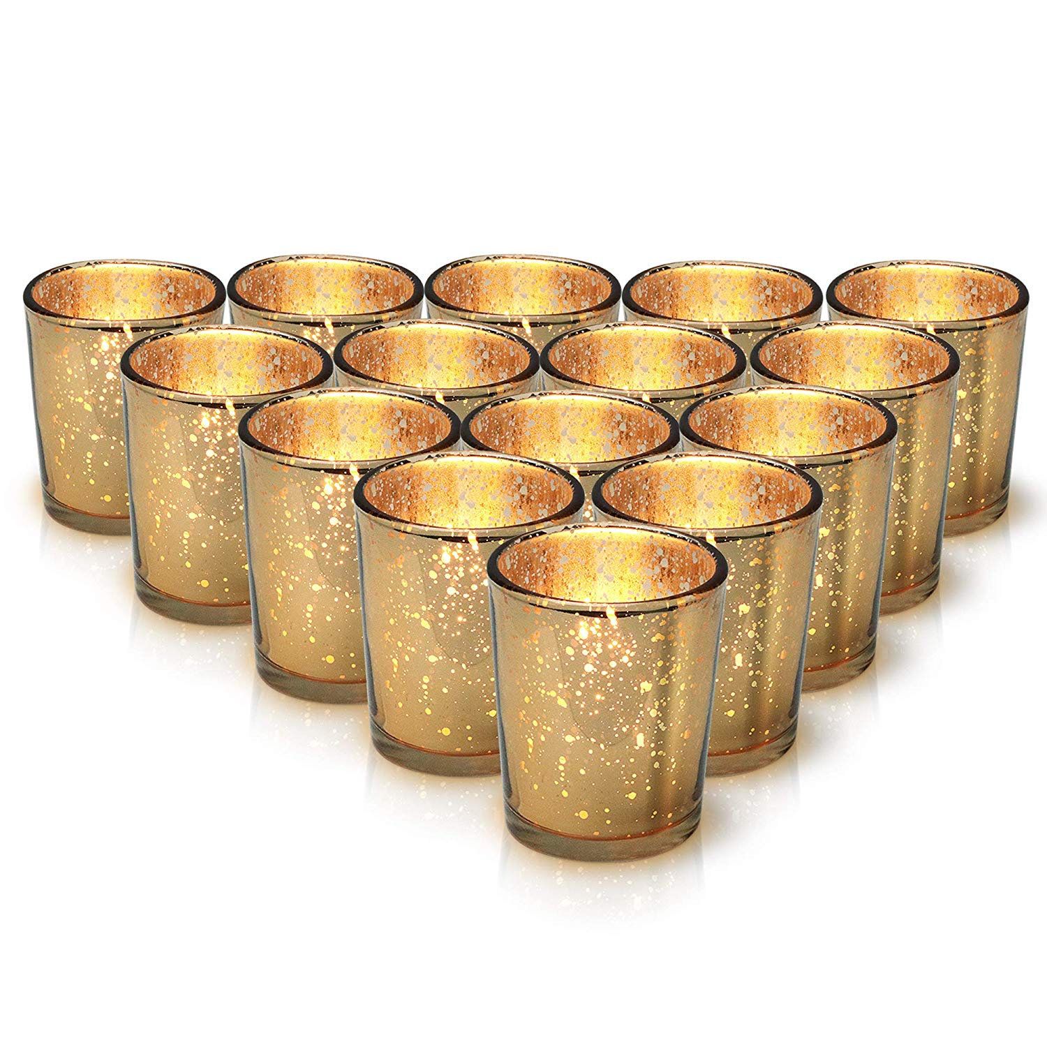 30 Gold Mercury Glass Votive Candle Holders