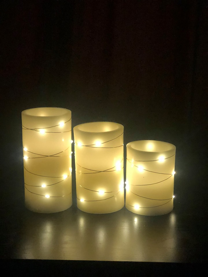 Led Flickering Candles- Set Of 3