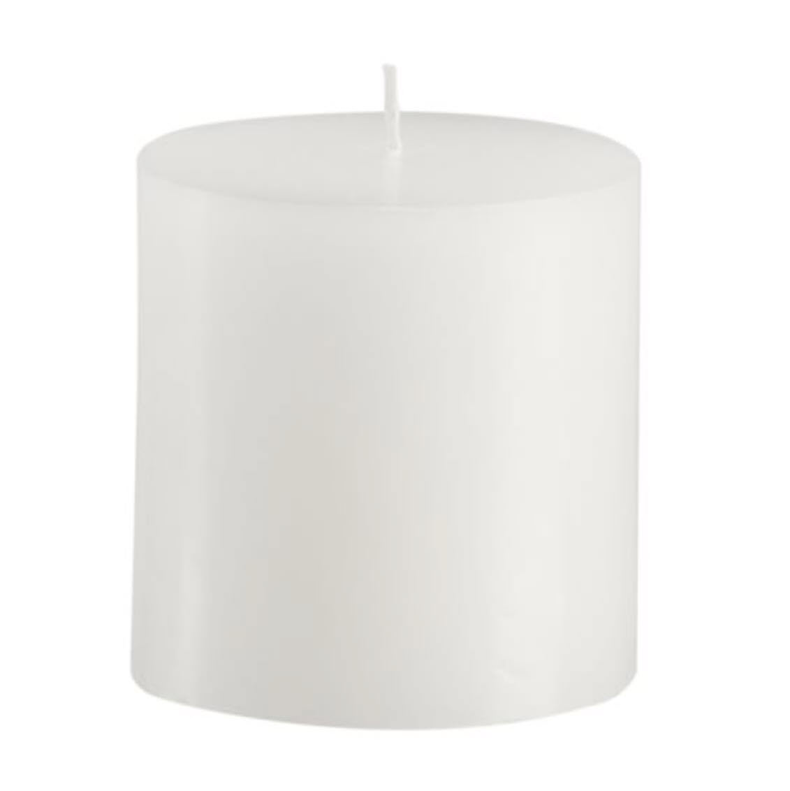 Pottery Barn White Candle Pillars (no Drip)