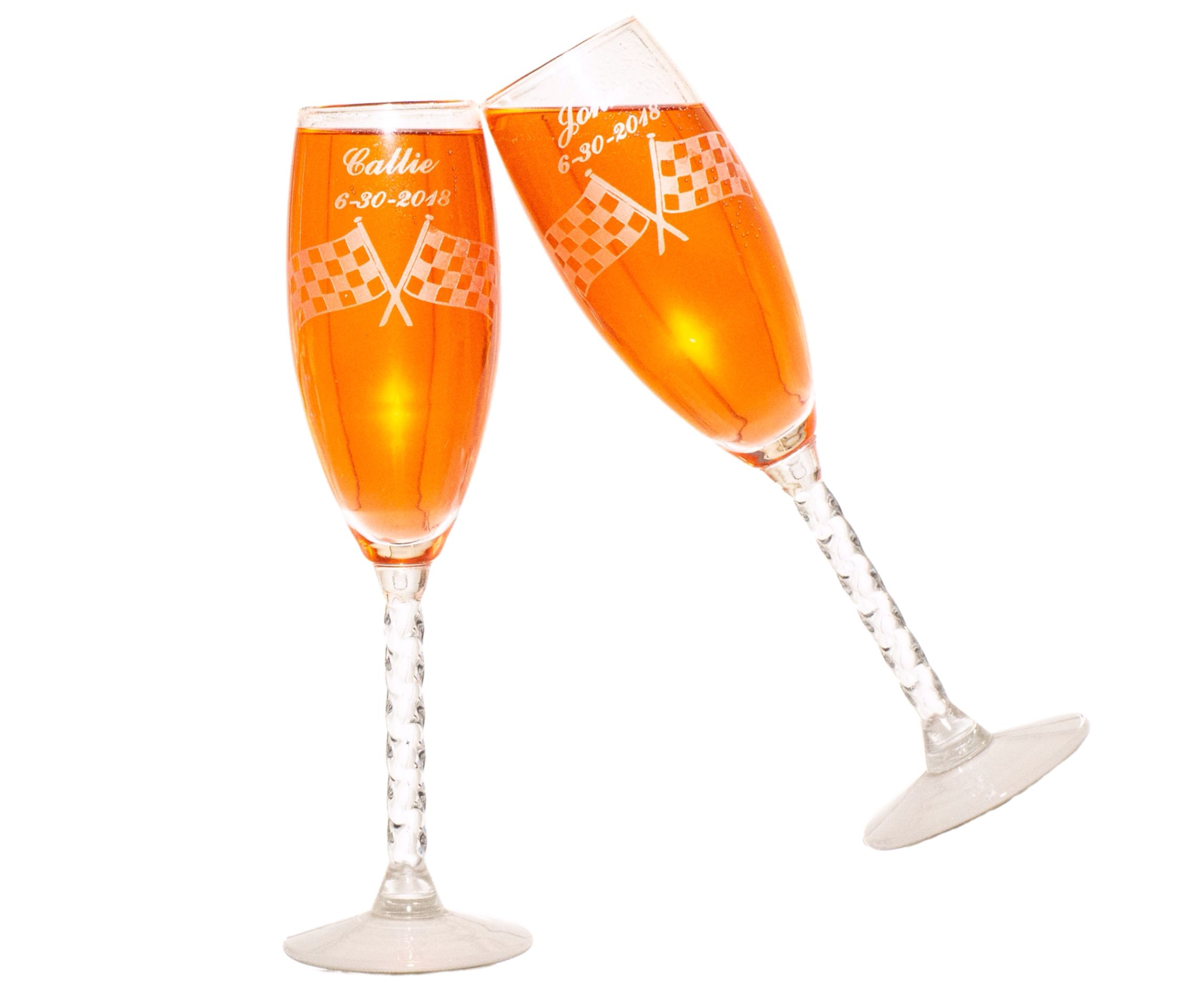 Personalized Theme Wedding Champagne Flutes T