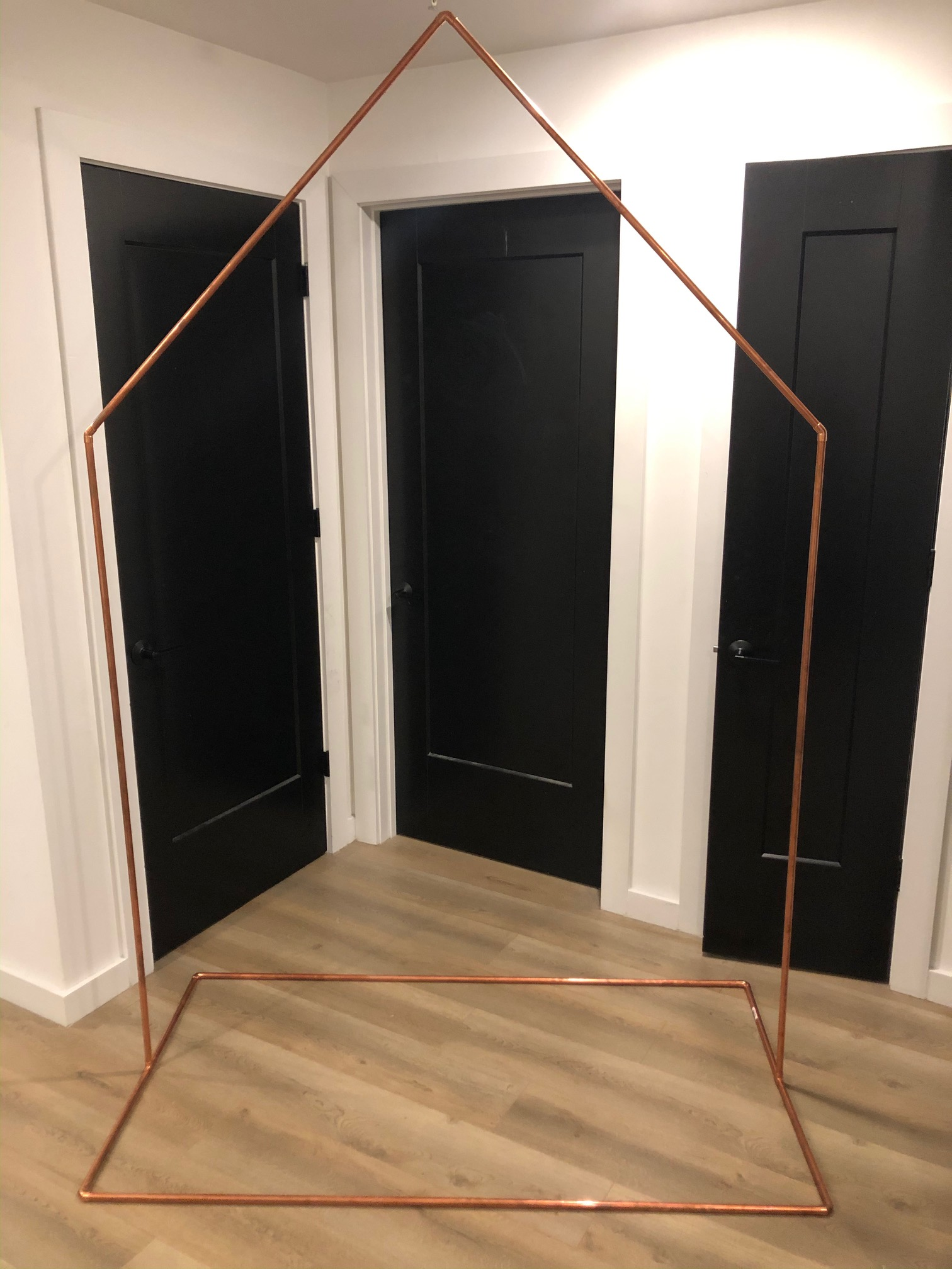 Geometric Copper Wedding Arch