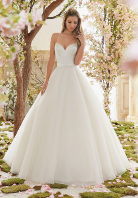 Mori Lee - Never Worn Morilee Wedding Dress- Tulle Skirt