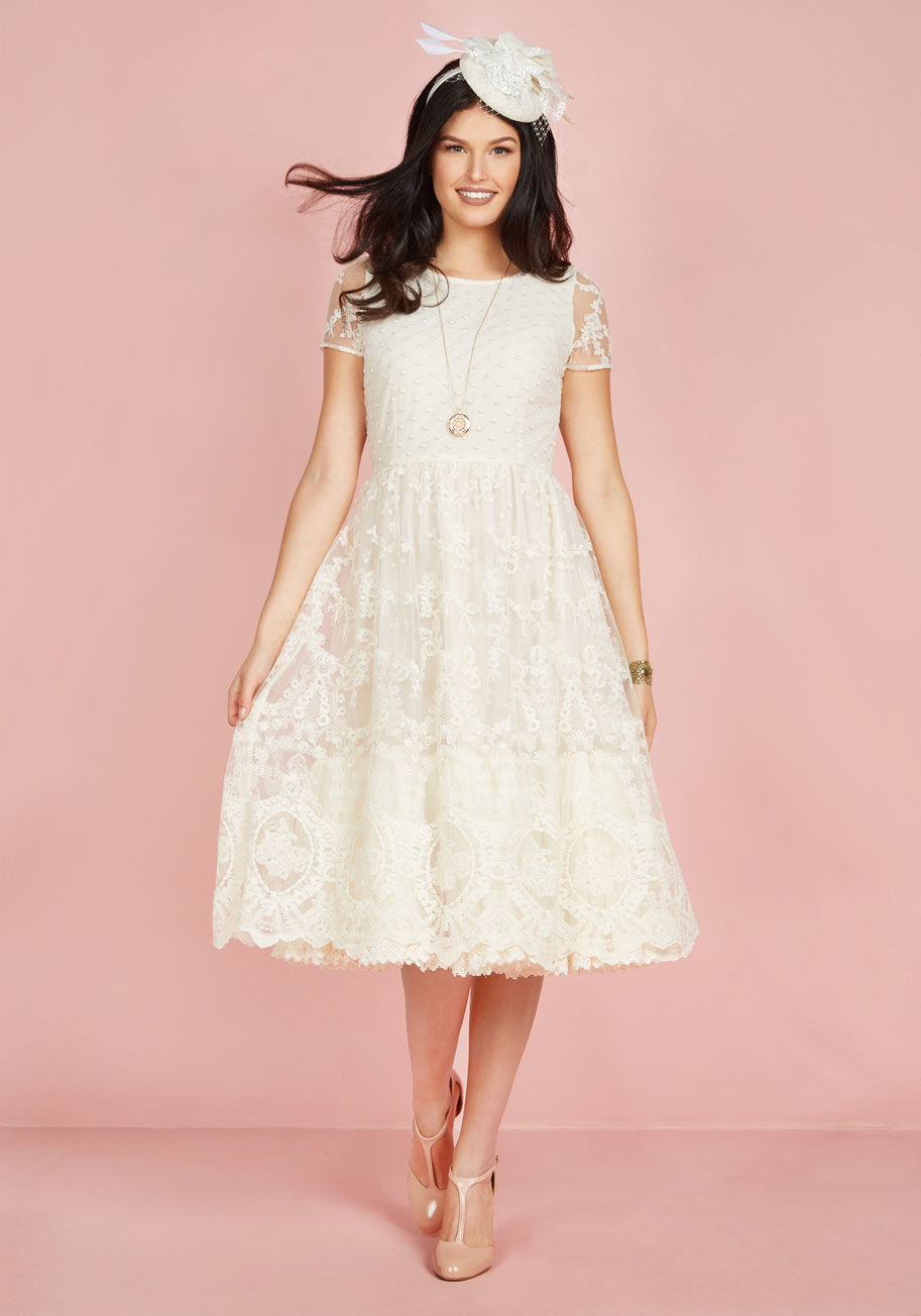 Modcloth Item No. 100000179565 - Bliss Way Up Midi Dress In Ivory