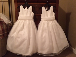 2- Us Angels  Stye 409 , Size 5 - Ivy (white) Flower Girl Dresses