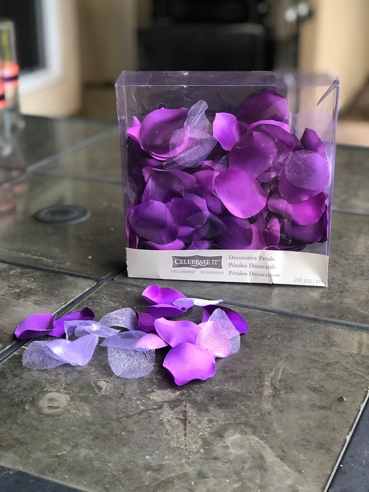 Mixed Shades Of Purple Floral Petals