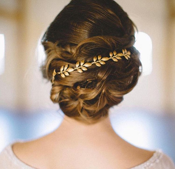 Grecian Inspired Gold Hair Piece
