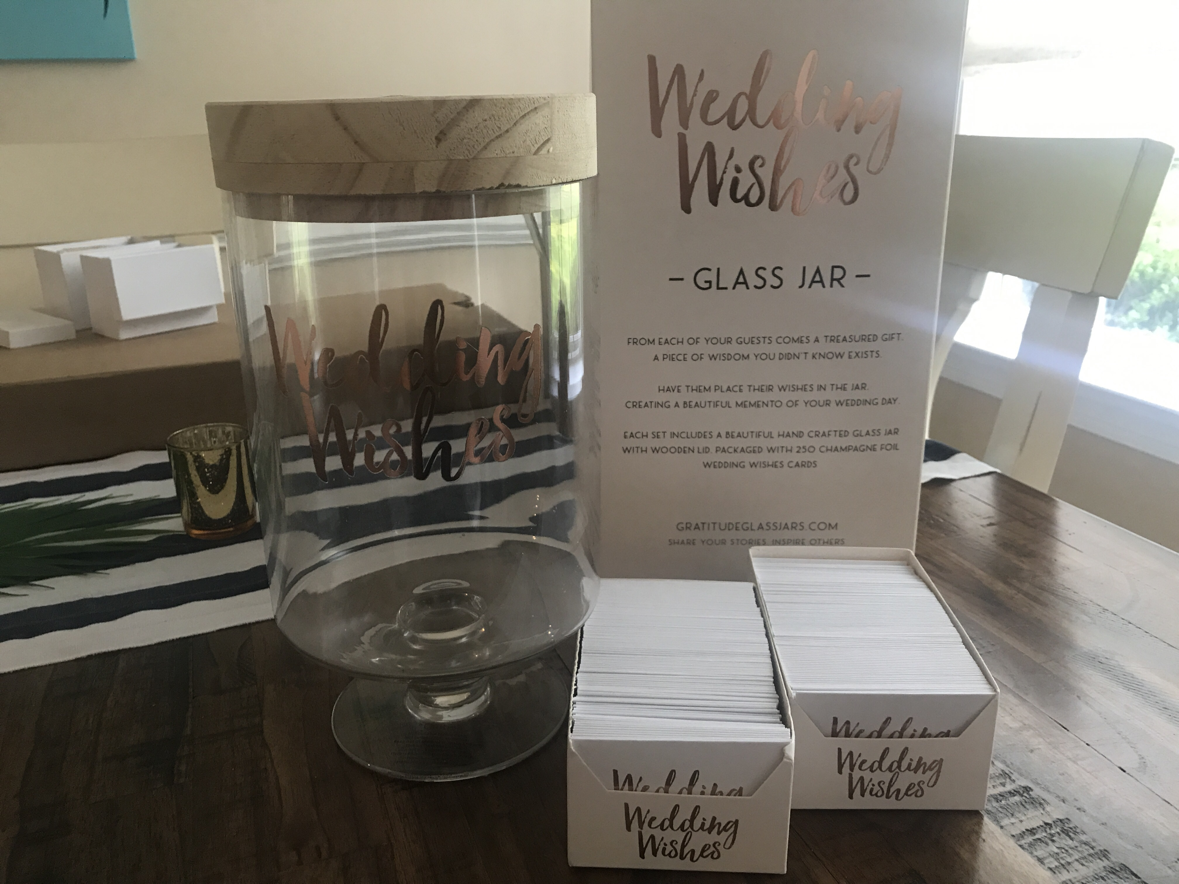 Glass Wedding Wishes Jar