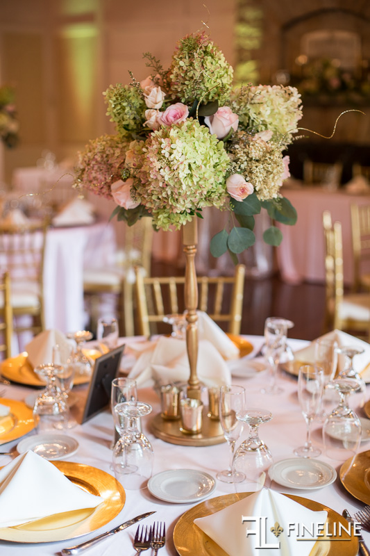 Tall Gold Centerpiece