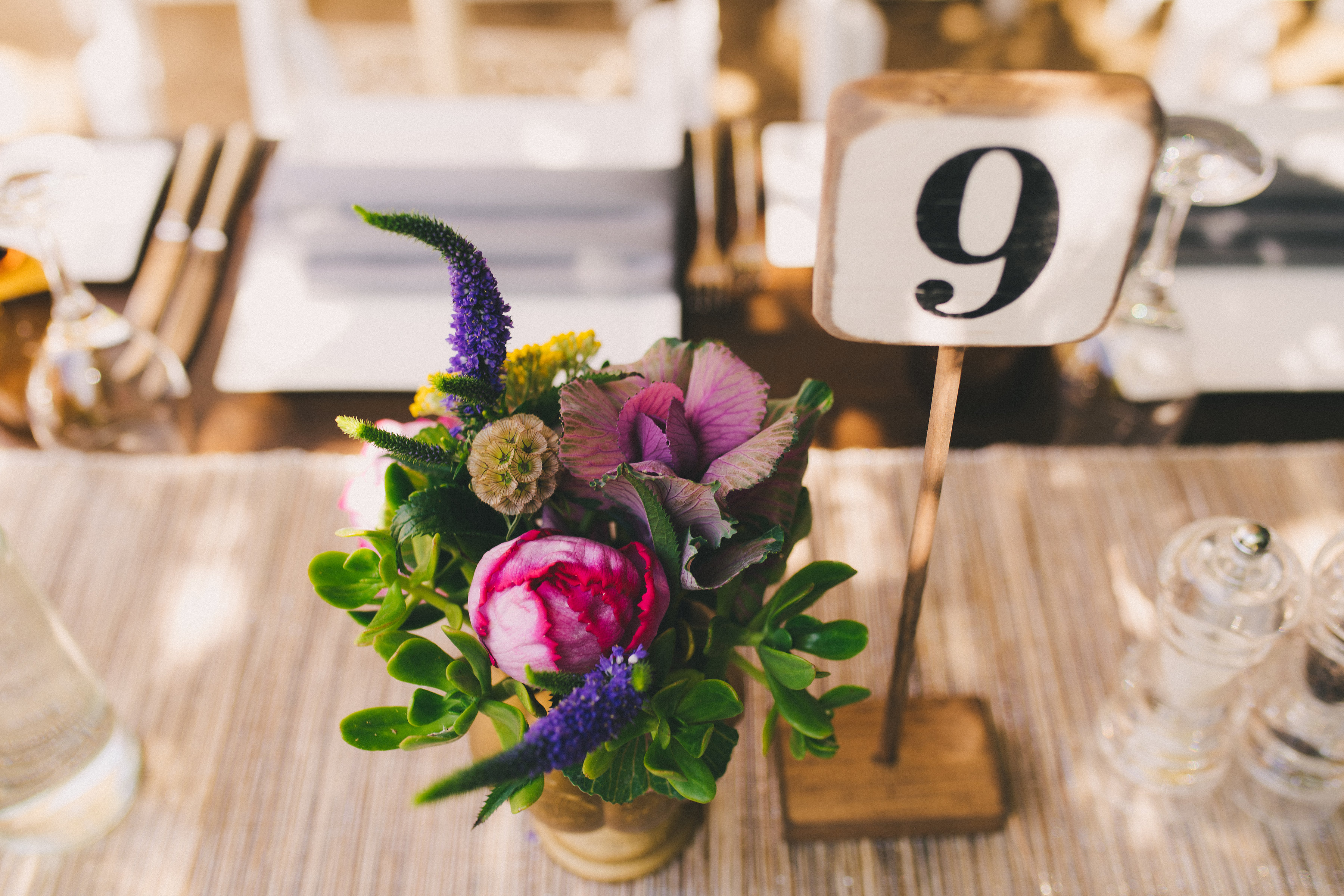 Rustic Wooden Table Numbers (1-15)