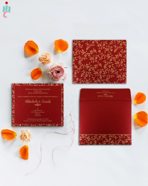 Custom Hindu Wedding Invitations Cards By Indianweddingcards