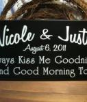 Personalized Kiss Me Wedding S