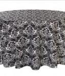 Flocking Taffeta Tablecloth 13