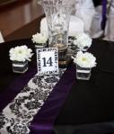 23 Damask And Purple Table Run