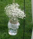 Lace Hanging Mason Jars