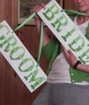 Bride And Groom Sign Green
