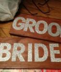 Wooden Bride And Groom Signs