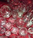 35 Assorted Clear Vases