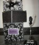 Black/white DIY Fabric Card Bo