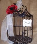 Elegant Wedding Birdcage Card