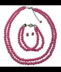 Affordable Fuchsia Pearls Jewe