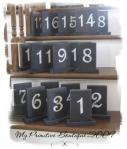 Wedding Table Numbers ~ Distre