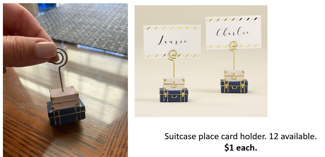 Mini Kate Aspen Suitcase Place Card Holder