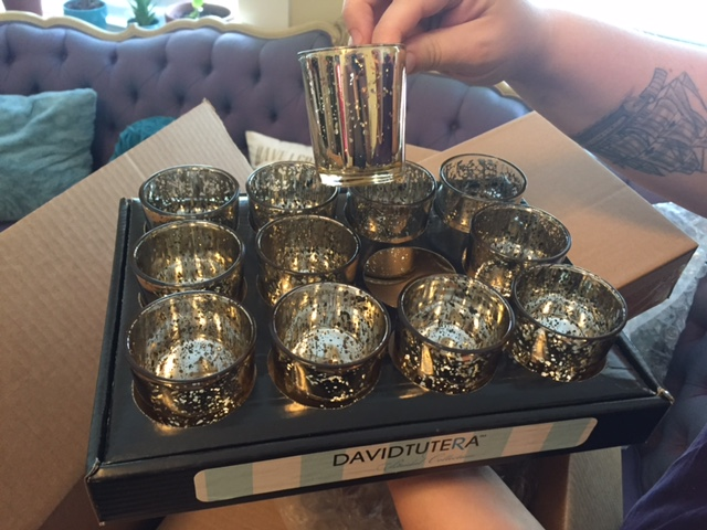 Silver Votive Holders And Candles