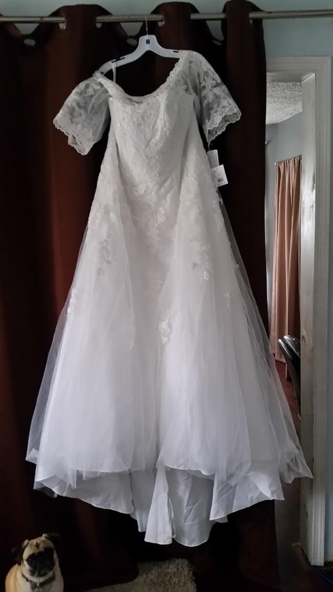 David\'s Bridal - Davids Bridal Lace Trumpet 9wg3734 | Size: 20 ...